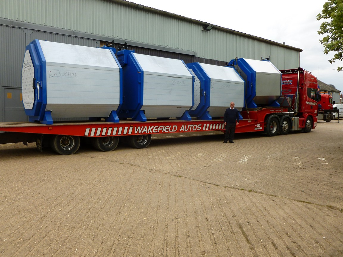 boilers ready for transit to scotland