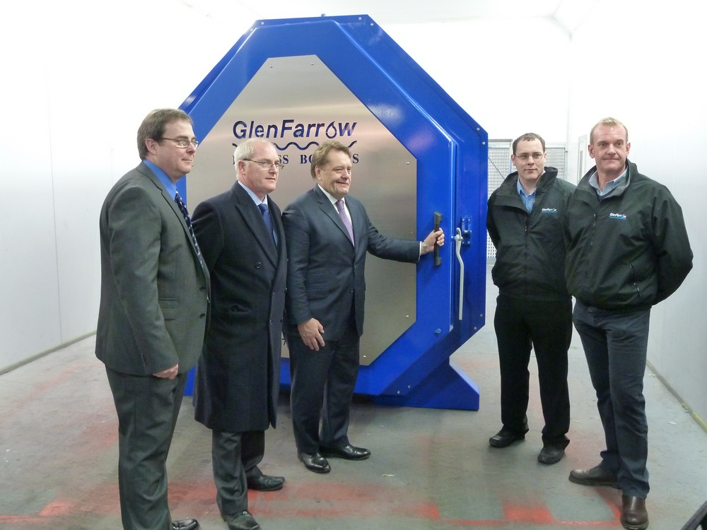 John Hayes MP with members of the GlenFarrow team