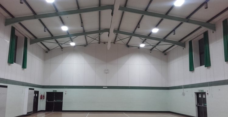 Holbeach Community Centre After New Lighting Installed