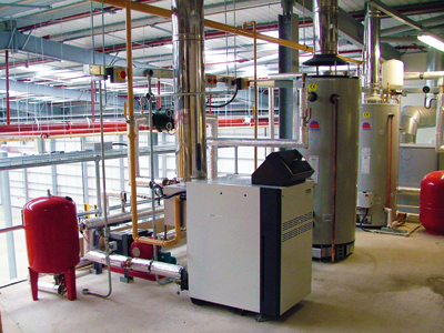 Plant Room for Commercial Heating System